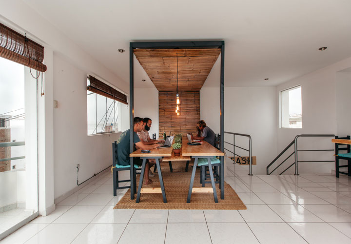 Shared cowork table