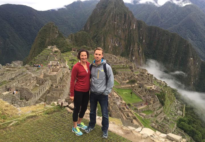 John and Amy in Machu Picchu, Peru